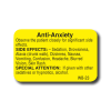 Anti-Anxiety Side Effect Label - 1000/roll