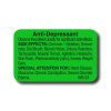 Anti-Depressant Side Effect Label - 1000/roll