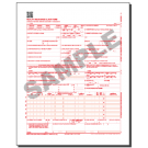 CMS 1500 (02/12) Claim Forms, Continuous, 1 part, White paper, Red (OCR) ink - 2500/ctn