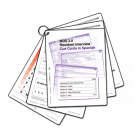 MDS 3.0 Resident Interview Cue Cards - Spanish Version - 2 sets/pack