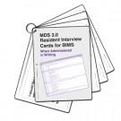 MDS 3.0 Resident Interview Cards for BIMS (When Administered in Writing) - 2 sets/pack