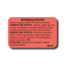 Anti-Psychotic Side Effect Label - 1000/roll