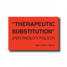 Therapeutic Substitution Label - 1000/roll