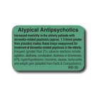 Atypical Antipsychotics Side Effect Label  - 1000/roll