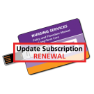 Nursing Services Policy and Procedure Manual - USB Flash Drive Only - Update Subscription Renewal