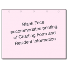Generic Charting Record, Laser, Pink, Horizontal - 500/ctn