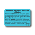 Selective Serotonin Reuptake Inhibitors Label - 1000/roll