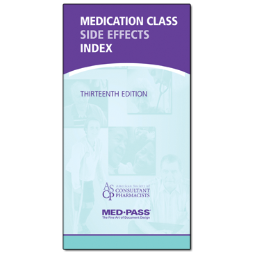 Medication Class Side Effects Index