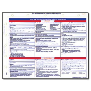 Oral Anticoagulation Agents Quick Reference Card