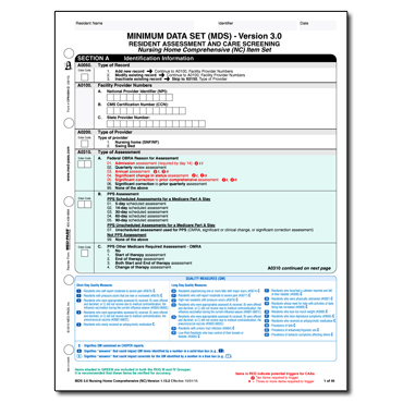 MDS 3.0 Comprehensive Form