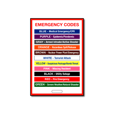 Employee Emergency Code Badge