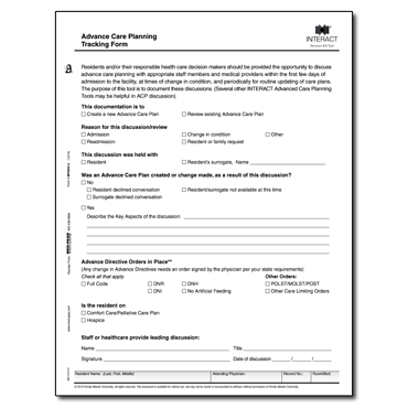 Advance Care Planning Tracking Form Version 4.0