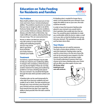 Education on Tube Feeding for Residents and Families Version 4.0