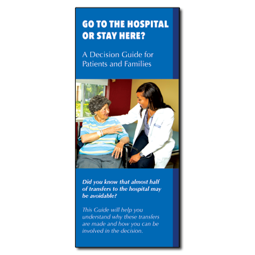 Go to the Hospital or Stay Here Brochure