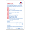"""""""Stop and Watch"""" Early Warning Tool - 1 part - 100/pack (2 pads of 50)"""