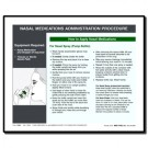 Nasal Medications Administration Procedure for Adults Tip Sheet - 100/pad