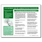 Eye Ointment and Gel Administration Procedure Tip Sheet - 100/pad