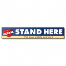 Stand Here Floor Cling - Heart - 5/pack