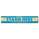 Stand Here Floor Cling - Butterfly - 5/pack