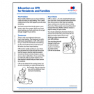 Education on CPR for Residents and Families - 50/pad