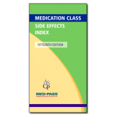 Medication Class Side Effects Index - 15th Edition - 5/pack