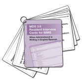 MDS 3.0 Resident Interview Cards for BIMS English/Spanish