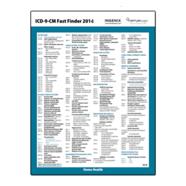 2014 ICD-9-CM Fast Finder® - HOME HEALTH