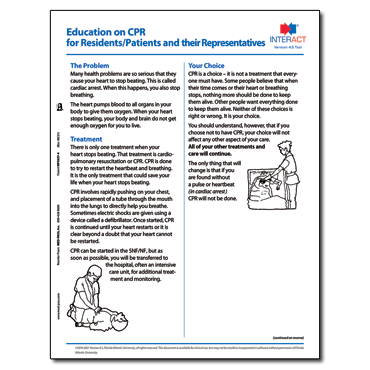 Education on CPR for Residents and Families Version 4.0