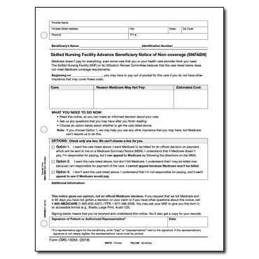 Skilled Nursing Facility Advance Beneficiary Notice